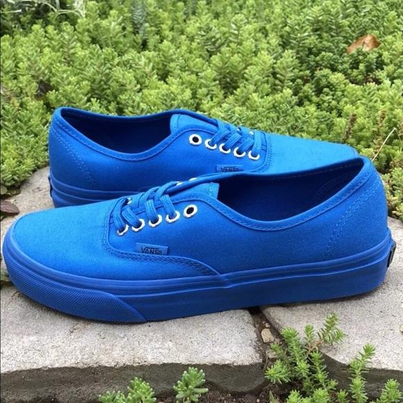 635fa29460 Vans Authentic Era Gold Mono Nautical Blue Shoes